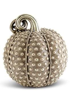 "9.75"" Antique Gold Rivit Textured Pumpkin"