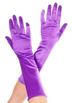 Purple Satin Gloves for Women