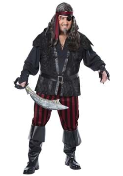 Mens Plus Size Ruthless Rogue Pirate Costume