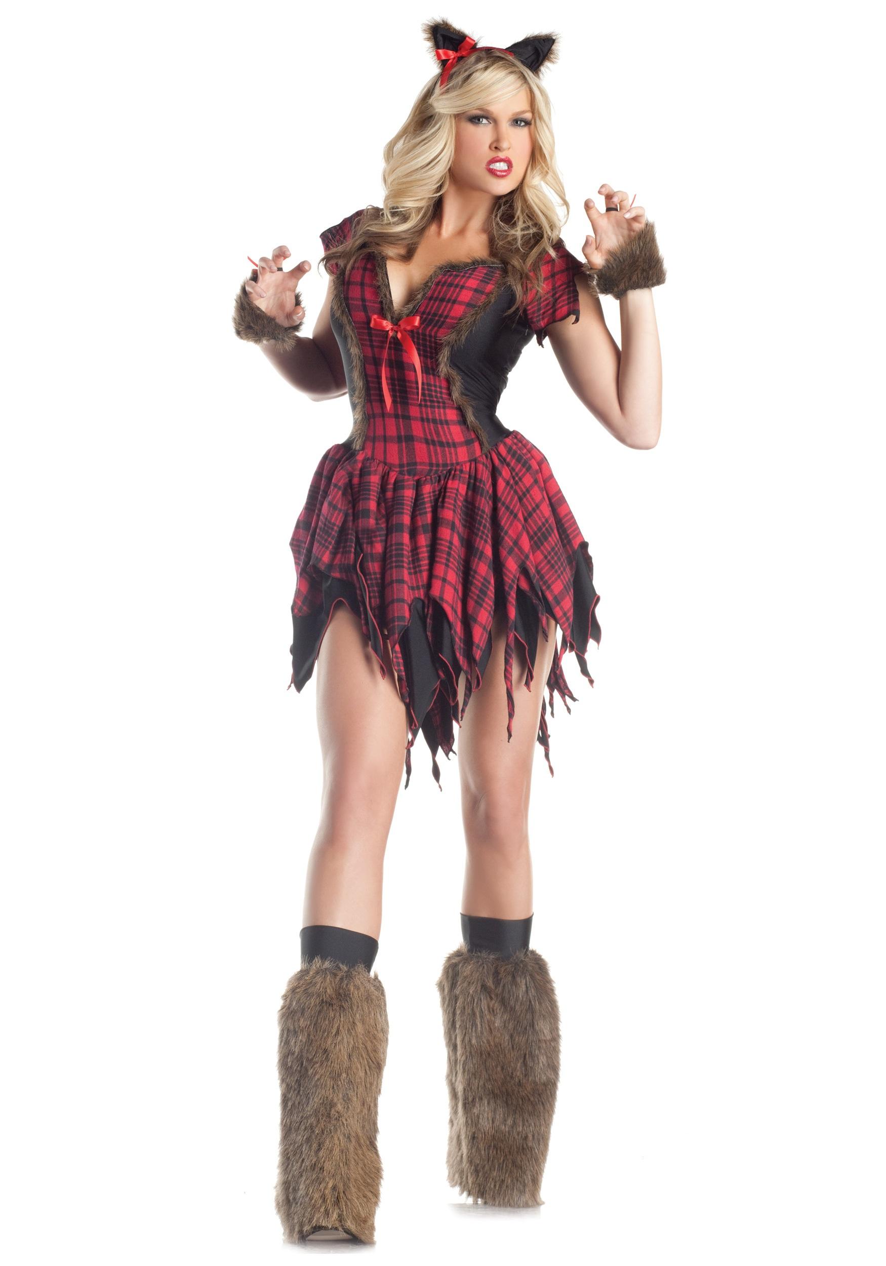 Sexy Werewolf Fancy Dress Costume