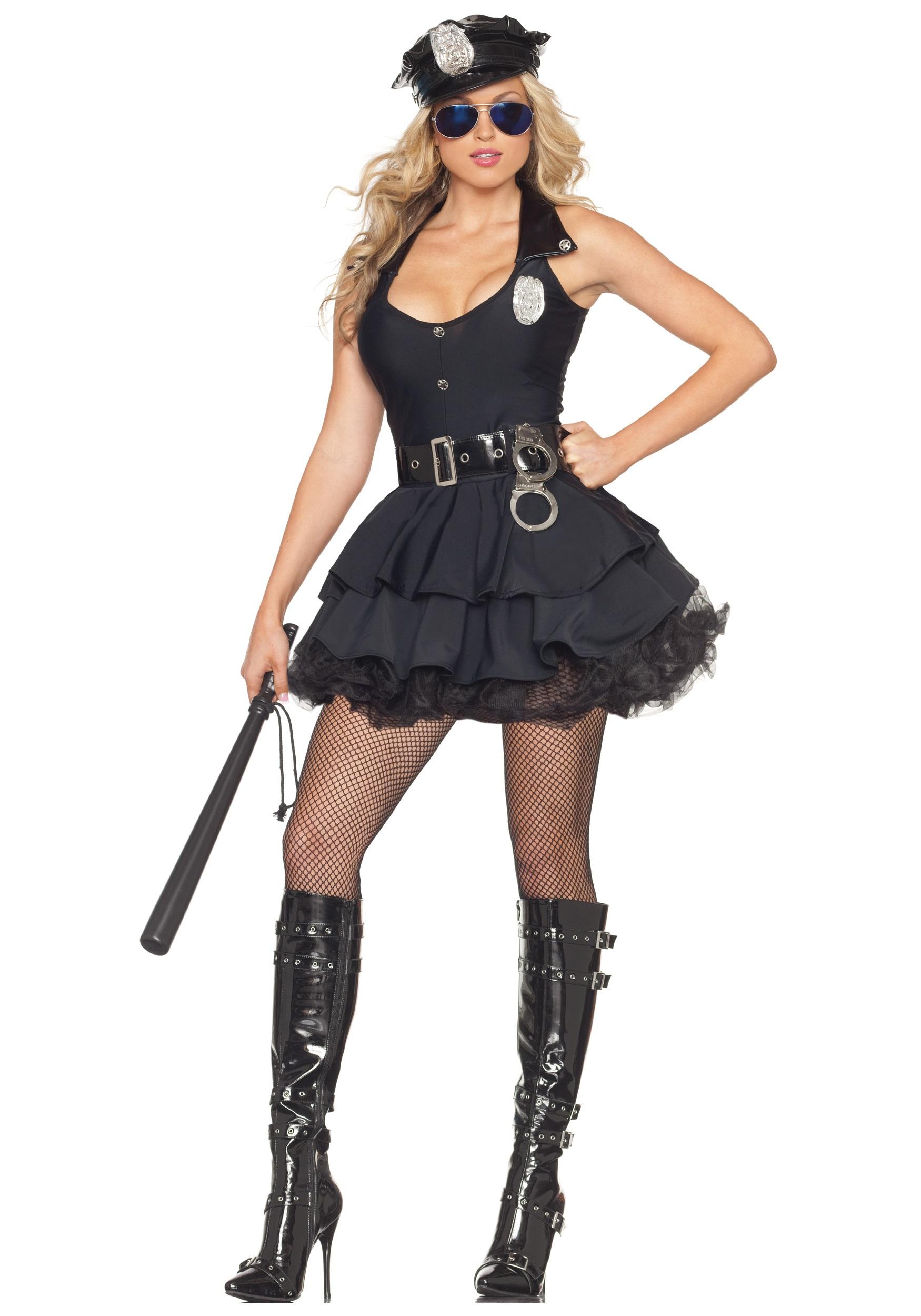 Sexy Tutu Cop Fancy Dress Costume