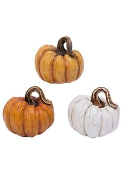 Set of 3 Resin 4 Pumpkins