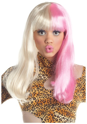 Pink and White Diva Wig