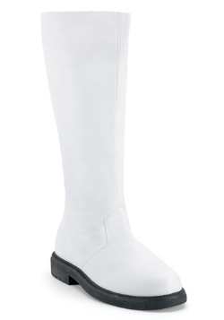 Adult White Costume Boots