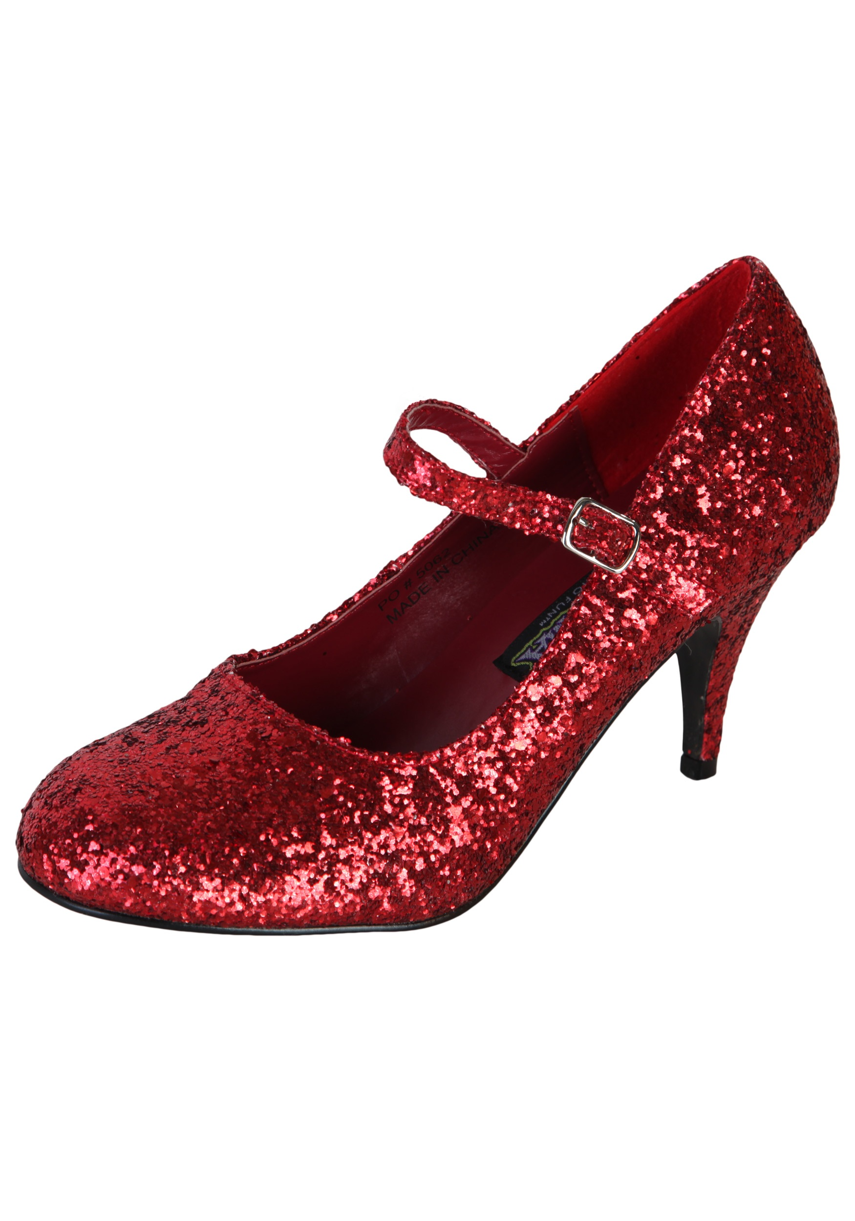 Red Sparkle Shoes Size