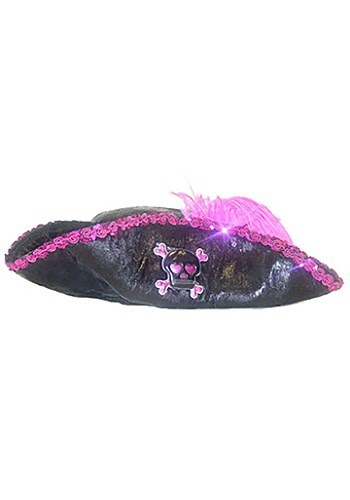 Kids Pink Caribbean Pirate Hat