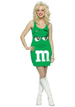 Womens Green M&M Costume