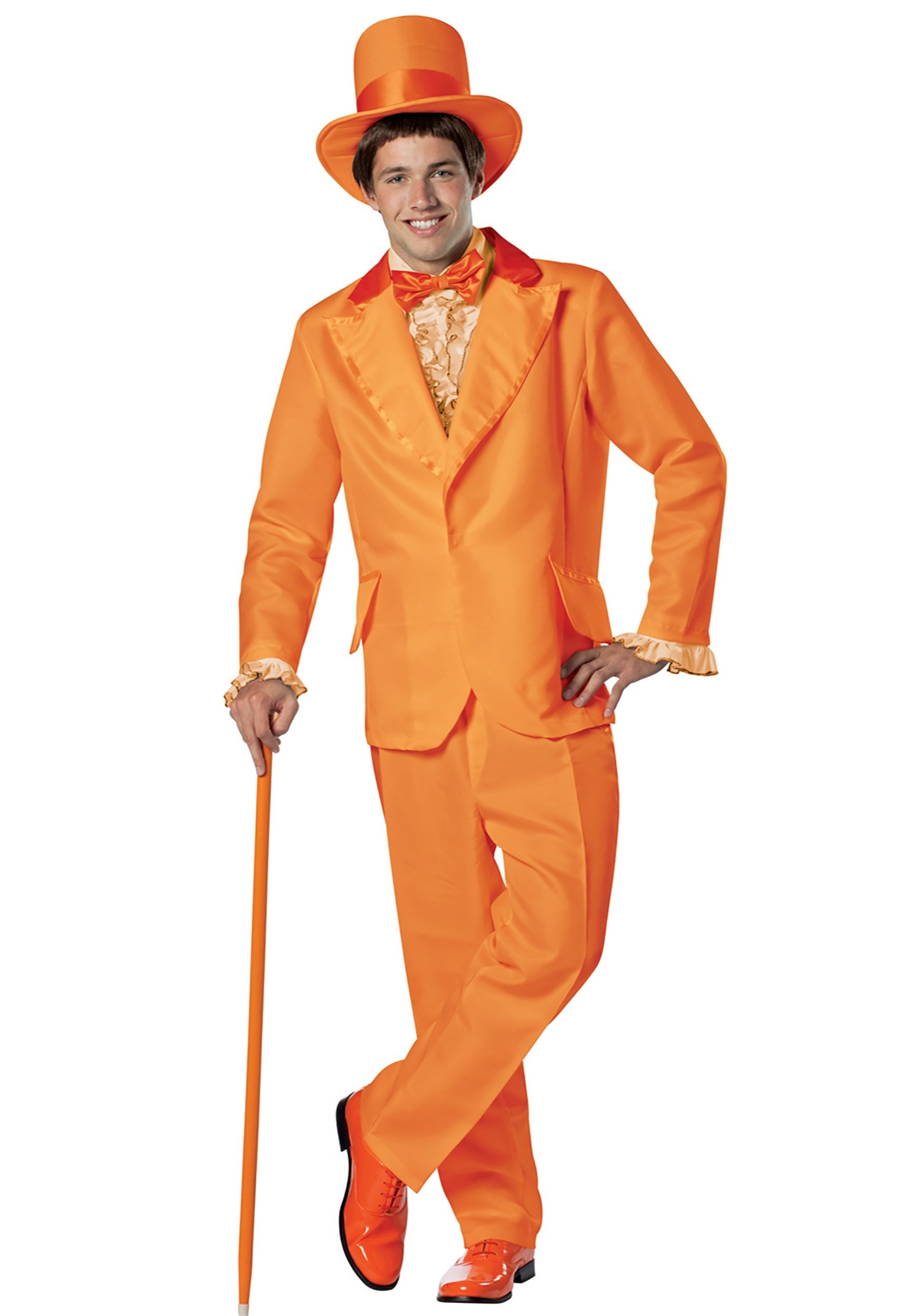 Dumb and Dumber Orange Satin Top Hat Lloyd Christmas Costume Accessory