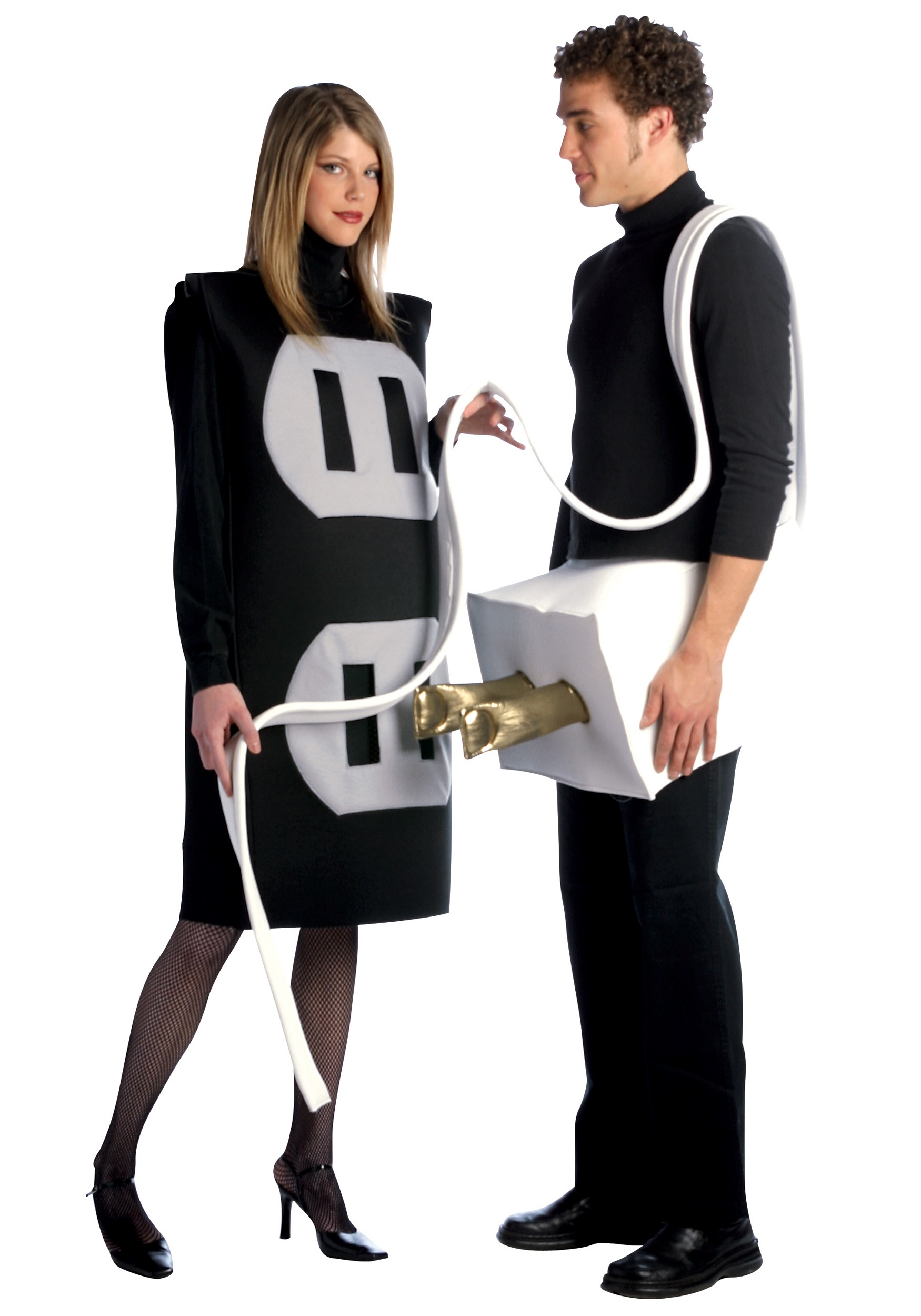 Plug and socket costume funny couples costume ideas plug and socket costume solutioingenieria Image collections