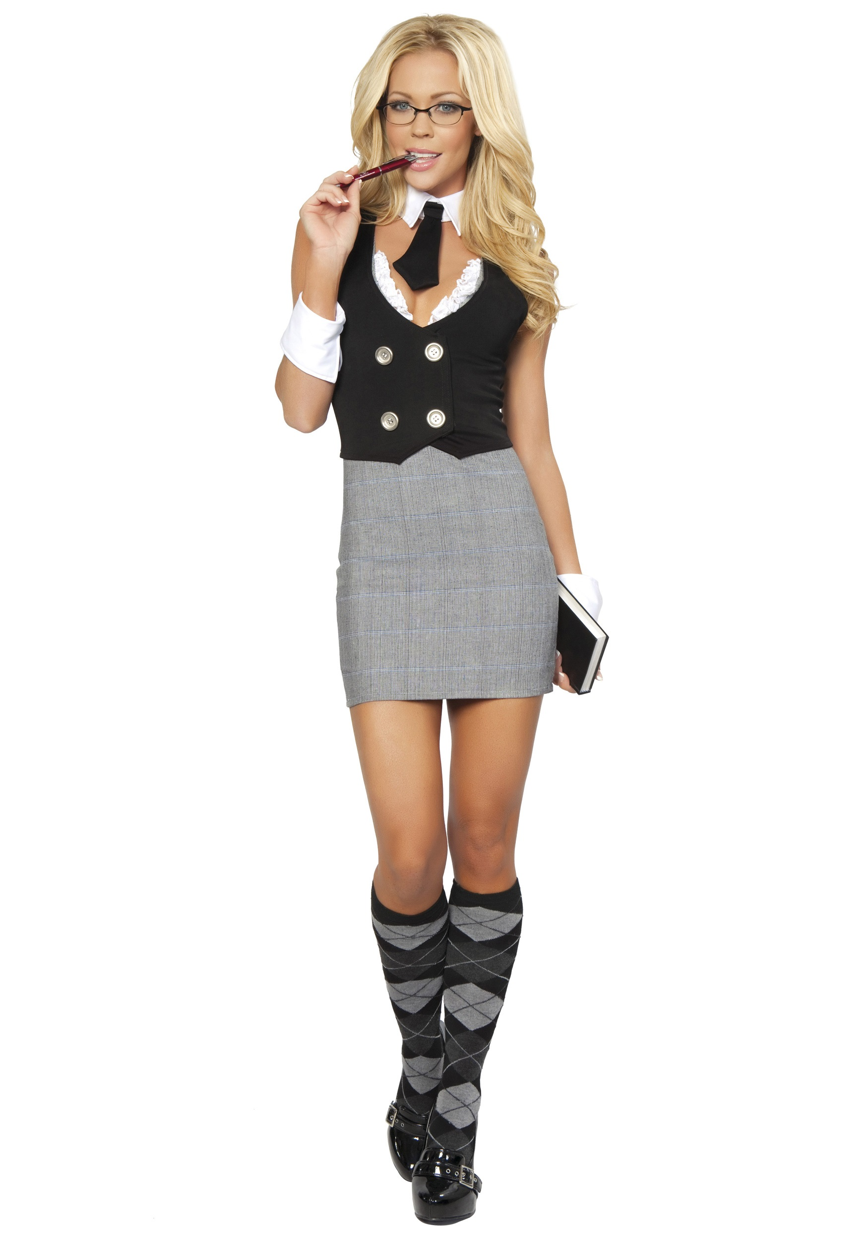 Sexy School Teacher Costume-9080