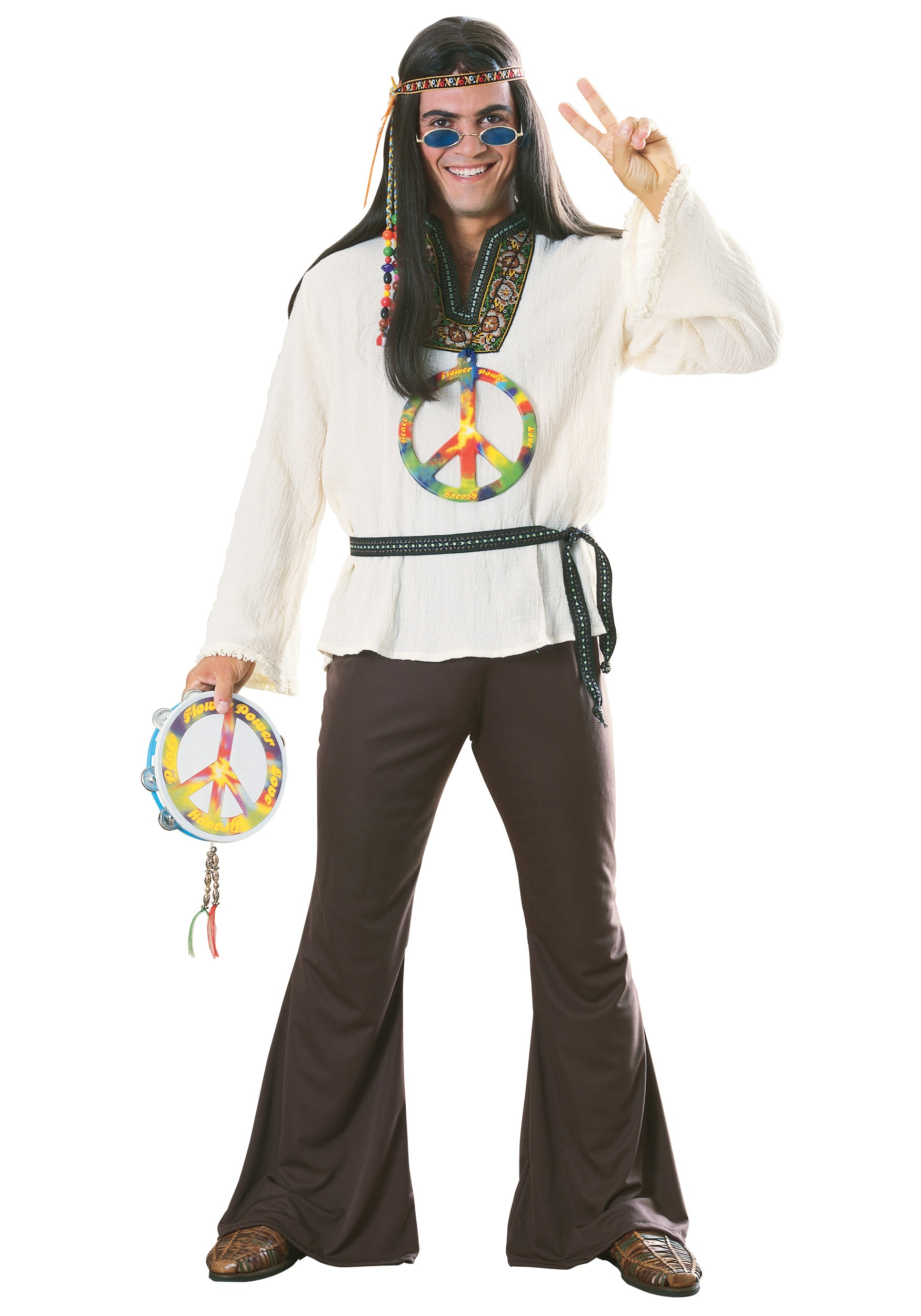 sc 1 st  Halloween Costumes UK & Adult Groovy Hippie Costume