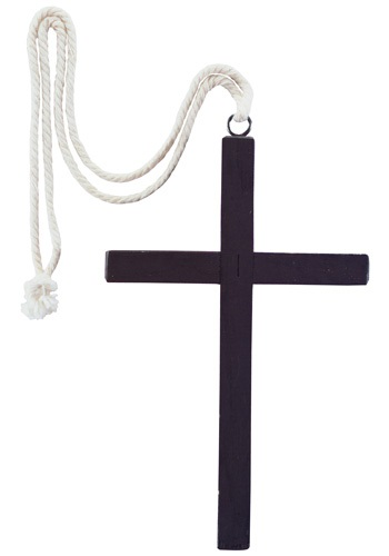 Black Wood Monk Cross