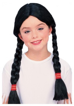 Kids Native American Costume Wig