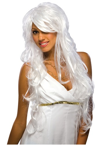 Chic White and Silver Wig