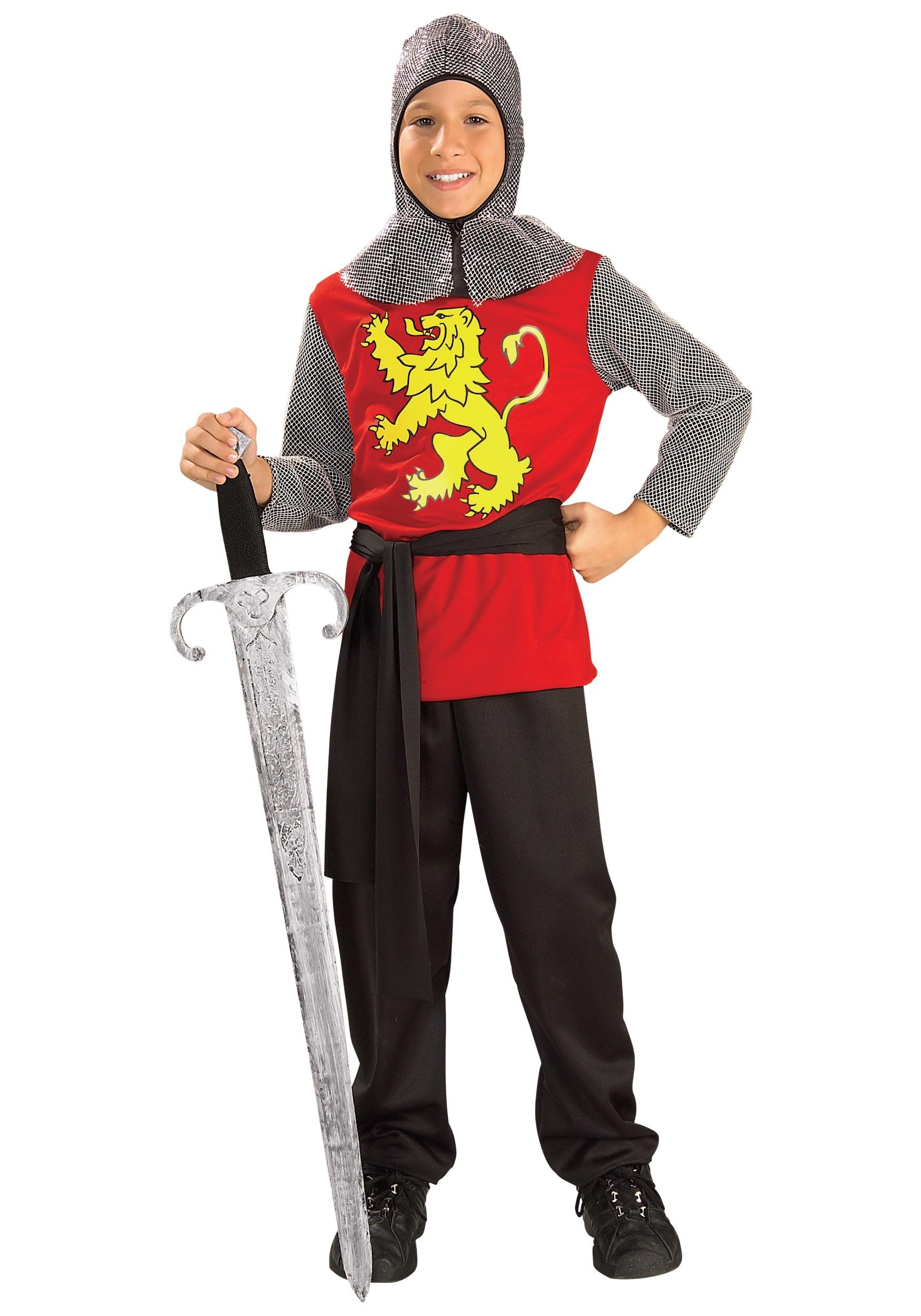 Kids Medieval Knight Fancy Dress Costume
