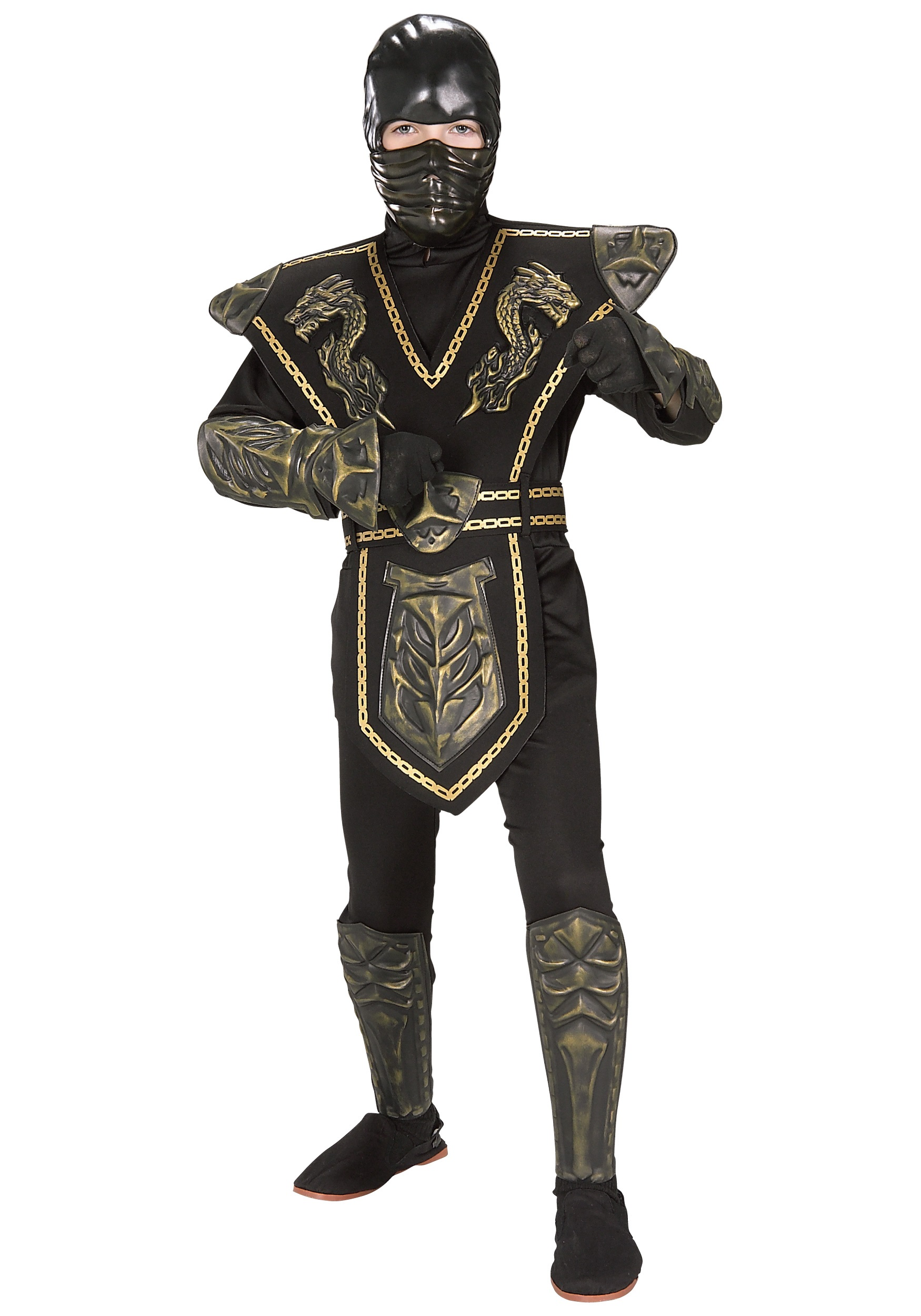costume with boy iii halloween armor series gold avenger products original ninja child ninjas