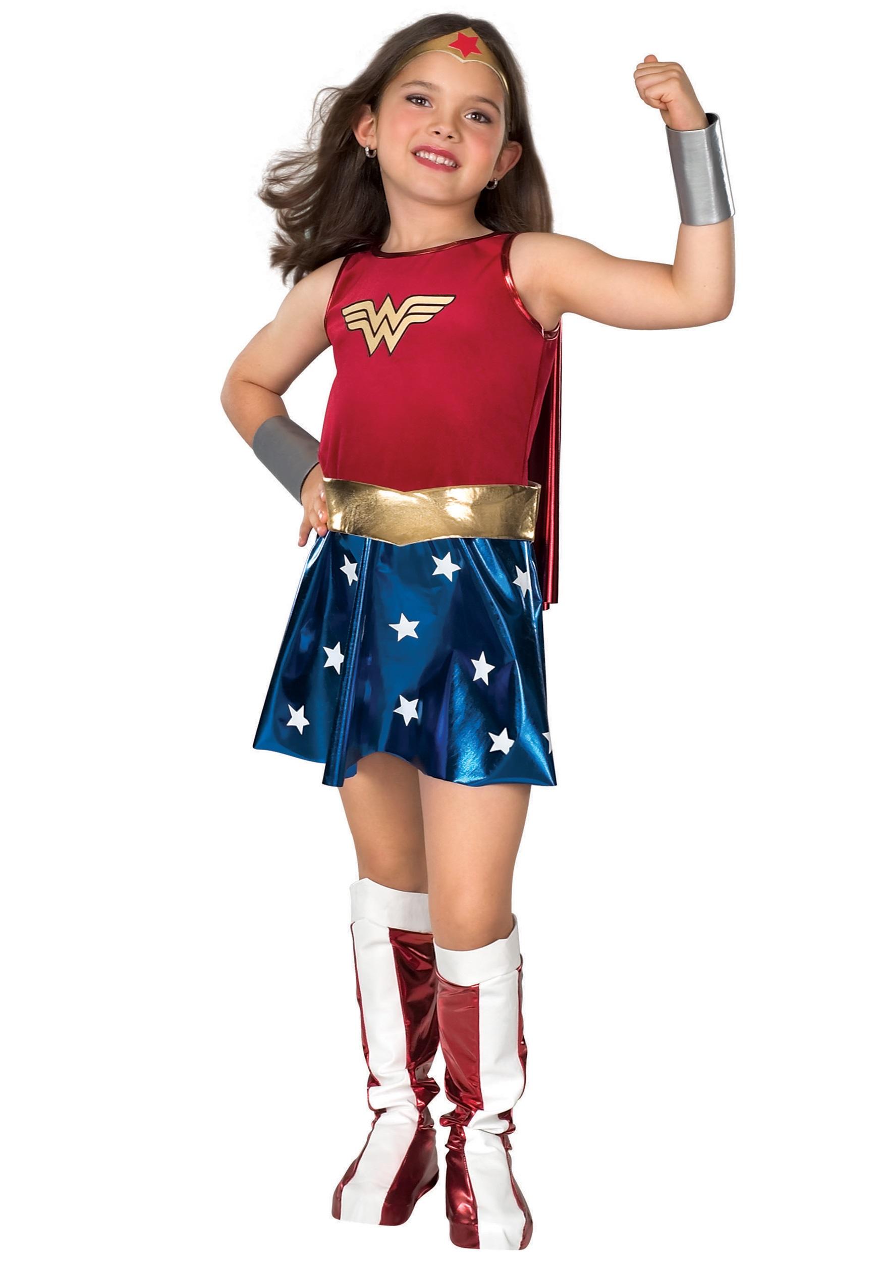 Kids Wonder Woman Costume  sc 1 st  Halloween Costumes & Girls Superhero Costumes - Child Teen Girls Superhero Costumes