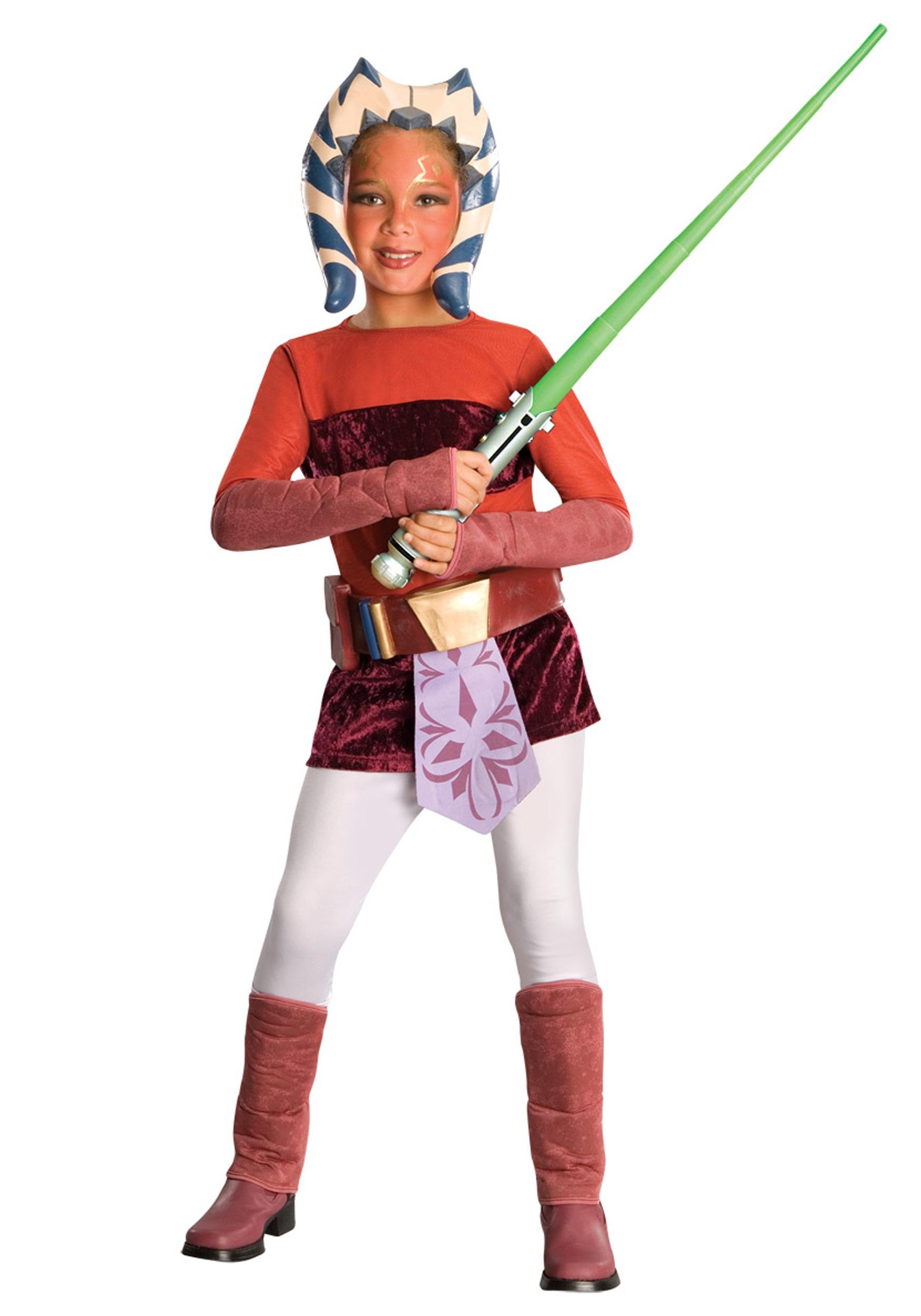 Child Deluxe Ahsoka Costume Kids Girls Clone Wars Costumes