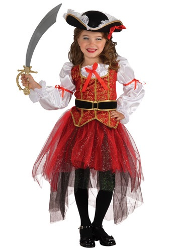 Girls Princess Sea Pirate Costume