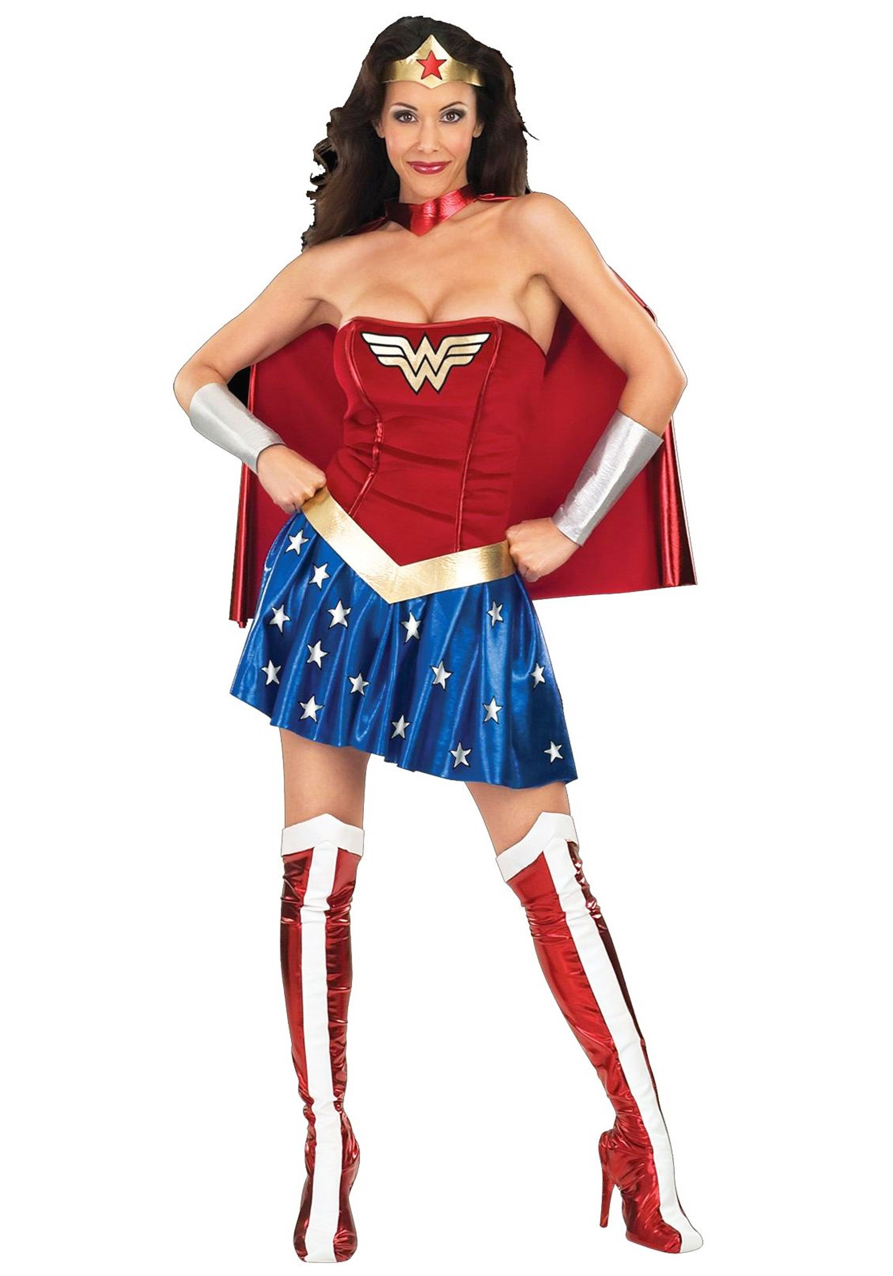 adult wonder woman costume rh halloweencostumes co uk Wonder Woman Costume for Teenagers Wonder Woman Costume for Teenagers