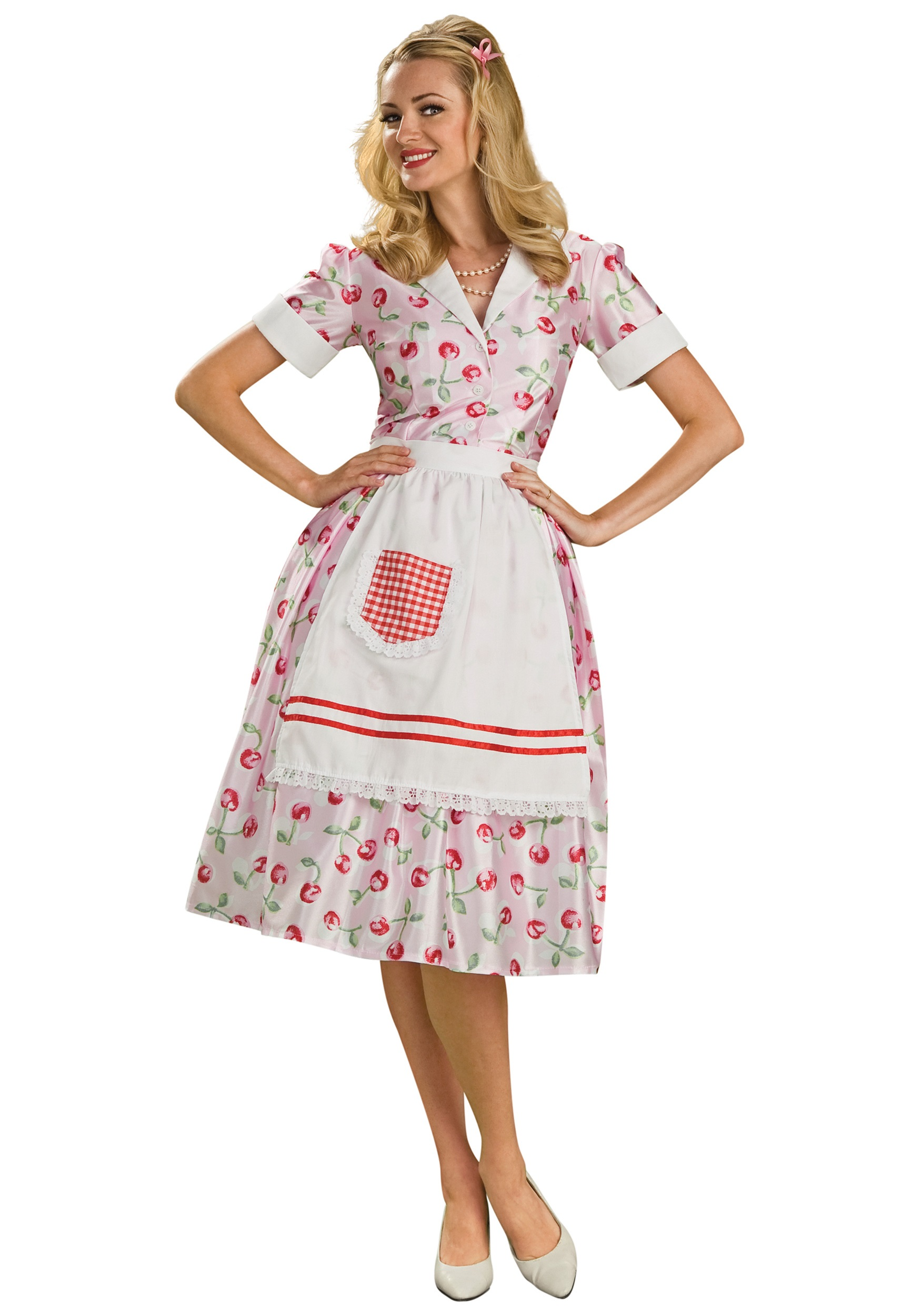 50s Housewife Costume  sc 1 st  Halloween Costumes UK & 50u0027s Costumes - Kids and Adults 50s Costumes