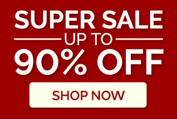 Super sale! Up to 90% off!